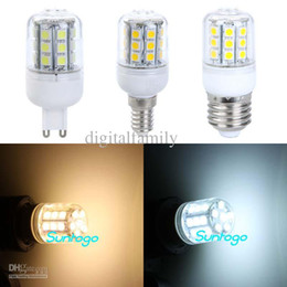 Led Corn Lamp E27 G9 E14 5W 400-Lumen 27 Led Cover 5050 SMD LED Light Bulb AC 110V  220V High power Energy Saving LED Light Bulb