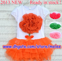 Wholesale 3pc lace Korean girls dresses girl tutu dress layered dress children D flowers kids cotton lace dress baby girl flower one piece dress