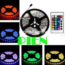 SMD 5050 Waterproof LED Strip Light DC12V 5M 300LEDs RGB Flexible Fita LED Light Ribbon Lamp + 24Key Controller