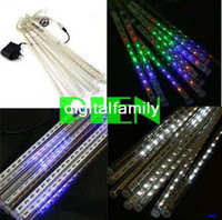 Wholesale Multicolor Colorful cm LED M tubes set LED Meteor Rain Shower Light Bulb Christmas Tree Free Ship set