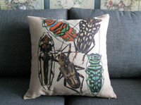 Wholesale American Beetle Cotton Pillow Cushion fabric squares cm x cm