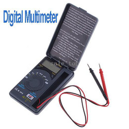 Wholesale Mini Pocket Auto Range AC DC U I LCD Digital Multimeter freeshipping dropshipping