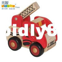 Bus Fashion Wooden Child wooden toys cars mlv series i - fire truck engineering car toy set diy model carshipping drop