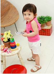 Wholesale 2013 summer new baby child boy female children s clothing baby vest shorts hooded star suite