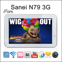 Wholesale Sanei N79 G Dual Core GPS Phone Call Bluetooth quot x600 Android WiFi Dual Camera Onda Ainol