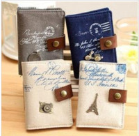 Wholesale Korea Classic Retro vintage romance cotton and linen Card Holder Wallet bit card package card