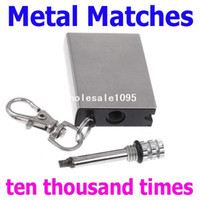 Wholesale Mini Flints Metal Matches Starter Match Lighter for Outdoor Camping Free drop