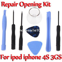 Wholesale Screwdriver Opening Pry Tools Repair Kit Set for iPod Touch iPhone S G G GS G PSP Free drop