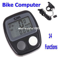 Wholesale 10PCS Waterproof LCD Display Cycling Bike Bicycle Computer Odometer Speedometer with Functions Free drop