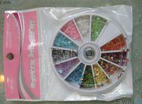 Metallic Nail Tips Half Nail 12 Sheet Mix Color Nail Art Acrylic Nails Tips Hot Sell 360bag lot