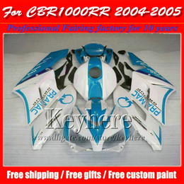 Injection moto racing fairings kit for 2004 2005 Honda blue white CBR1000RR CBR 1000RR 04 05 motorcycle parts with 7 gifts gp25