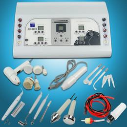 Wholesale 7 Facial Brush Spot Removal Frequency Ultrasonic High Galvanic Vacuum Machine RU8208