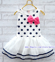 Summer Sleeveless 100% Cotton 4pc lot christmas Korean girls dresses girl tutu dress layered dress girl candy dot bow child vest tutu dress kids children summer clothing