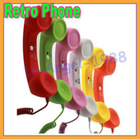 Wholesale 3 mm Retro phone Telephone Handset for iPhone S Samsung HTC Nokia Blackberry With volume control HG063