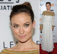 balloon sleeve dresses - Olivia Wilde dress featured sparkling gold embellishment accenting the neckline cuffs of sheer balloon long sleeves dubai women Dress
