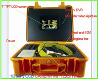 Wholesale Drain Pipe Inspection Camera quot LCD screen With DVR pipe camera Pipe amp wall Inspection System With M cable Freeshipping