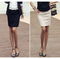 Wholesale Apricot Black Bodycon Ladies Office Corporate Work Formal Pencil Skirt