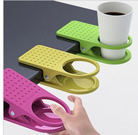 Wholesale 100pcs Table Glass Water Cups Clip Drinklip Cup Holder Glass Holder Mug Office Tumblerful Glass Clamp