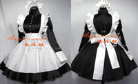 Wholesale New Arrival Lockable Satin Sissy Maid Black Dress Gothic Lolita Dresses Custom Cosplay Halloween Party Event Coser Cosplayer