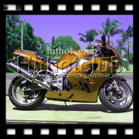al por mayor 1996 carenados personalizados zx9r-7gifts Para KAWASAKI 94-97 NINJA ZX9R 94 95 96 97 ALL Oro brillante ZX-9R HL # 1540 1994 1995 1996 1997 Golden ZX 9R 9 R Carenado de carrocería personalizada