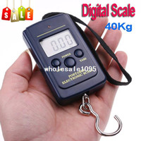 40Kg/88Lb/1410oz 2 x 1.5V AAA batteries Display 20g-40kg 20g 40kg Luggage Scale, Fishing Weight Digital Scale,Free wholesale drop