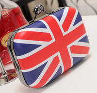 PU uk flag - UK Flag Union Jack Mini Handbag Evening Bag Clutch Bag Banquet Bag Shoulder Messenger Bag GZHD023