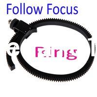 Wholesale Free Adjustable Flexible Lens Follow Focus FF Gear Ring Belt for DSLR Camcorr Camera drop
