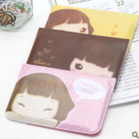 Wholesale Cute Business ID Holder Case Wallet Pocket creative Korean stationery cute cartoon Niuzai card bit card package girl card holder