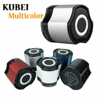 Wholesale KUBEI Bluetooth Speaker Mini Speaker For iPad iPOD iPhone Potable Wireless Speaker Blue Green Black Silver White Pink Rose