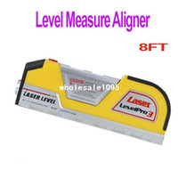 Wholesale New Pro FT Laser Level Horizon Vertical Measure Tape Aligner Free Drop drop