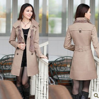 Wholesale Autumn New Arrival Cotton Formal Outerwear Trench Coat For Women Women s Trench M XL tk0713