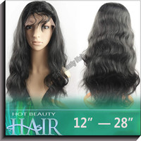 Wholesale Hot Beauty remy brazilian human hair body wave lace front wig color b
