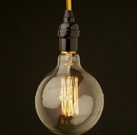 110V-240V bar light globe - creative line hanging vintage cord single pendant lamp within E27 E26 bulbs G95 for restaurant retro bar lights MYY5253