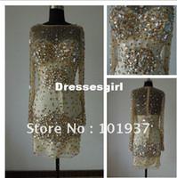 Model Pictures custom acrylic - Custom made Sexy Crystal Shiny Acrylic Beading Mini Prom Dress JOV5577