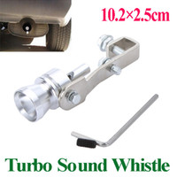 Wholesale Universal Turbo Sound Whistle Exhaust Pipe Tailpipe Fake BOV Blow off Valve Simulator Aluminum Size M x2 cm pc drop