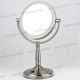 Wholesale led light makeup mirrors desktop quot double sided mirrors with transformer battery MYY5254