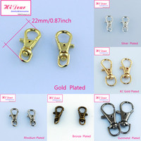 Cheap Alloy metal swivel clasps Best Chirstmas Swilvel claw lobster clasps keychain lobster clasps