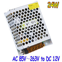 Wholesale AC V V to DC V A W Voltage Transformer Switch Power Supply for Led Strip billboard LED module light free drop