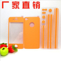 Wholesale Full Body Colourful Stickers Screen Protector Skins For iphone G iphone S with retail packing