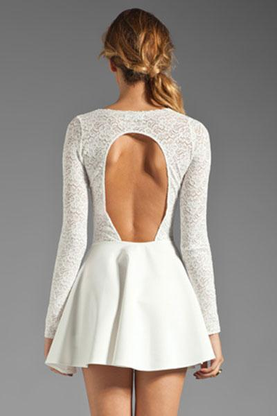 Robe patineuse blanche pas chere