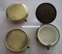 Cheap Bronze Blank Metal Pill boxes DIY Medicine Organizer container copper Single compartment