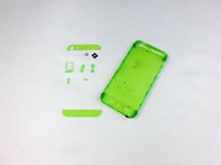 Wholesale For iPhone Clear Back Cover Housing Transparent Plastic Battery Door with Power Button Repair Parts for iPhone G