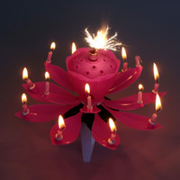 Wholesale 10pcs Lotus birthday music candle