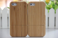 Wholesale New Genuine Real Natural Bamboo Wood Wooden Combo Case wooden key Hard Case Cover For for iphone G S iPhone