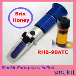 Wholesale Hand Held Honey Refractometer Brix Tester Blue Grip RHB ATC with Calibration Oil and CE Certificate