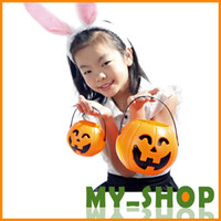 Wholesale Halloween Halloween supplies props haunted house bar decoration cm cloth field pumpkin cans pumpkin bucket JJ0015