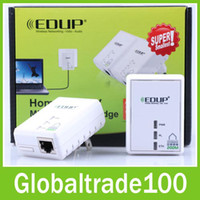 Wholesale Original EDUP PLC5511 Mbps Powerline Power Line Network Adapter Free DHL Shiping