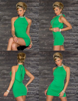 Wholesale Sexy Sleeveless green Peplum Formal Cocktail Gown Party Wear Club Dress Exotic sexy club wear hot lingerie