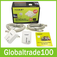 Wholesale EDUP EP PLC5511 Mbps Starterkit PowerLine Network Electric Power Adapter Link Ethernet Homeplug Original Free DHL Shiping