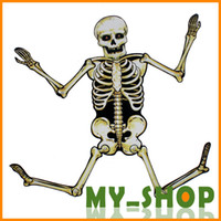 Wholesale Halloween props haunted house bar decoration props flexion cm skull skeleton ornaments